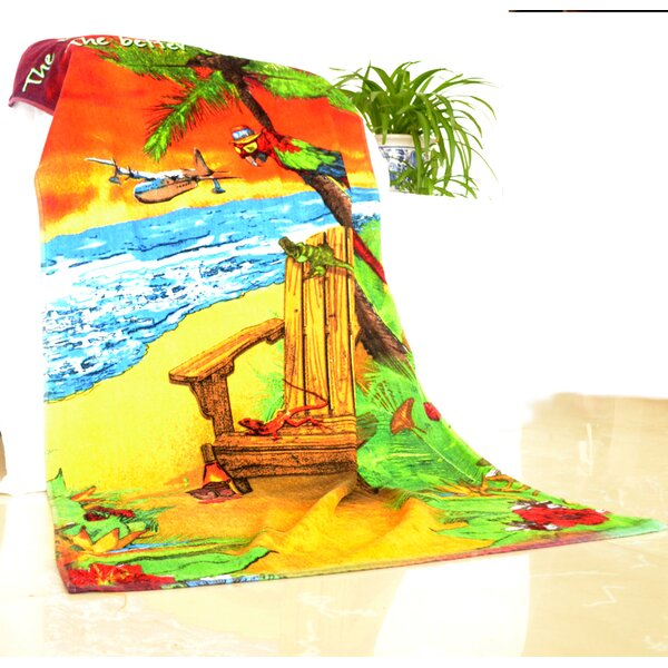 Enjoyful Summer Time 100% Cotton Beach Towel by JCP Hometex Inc.
